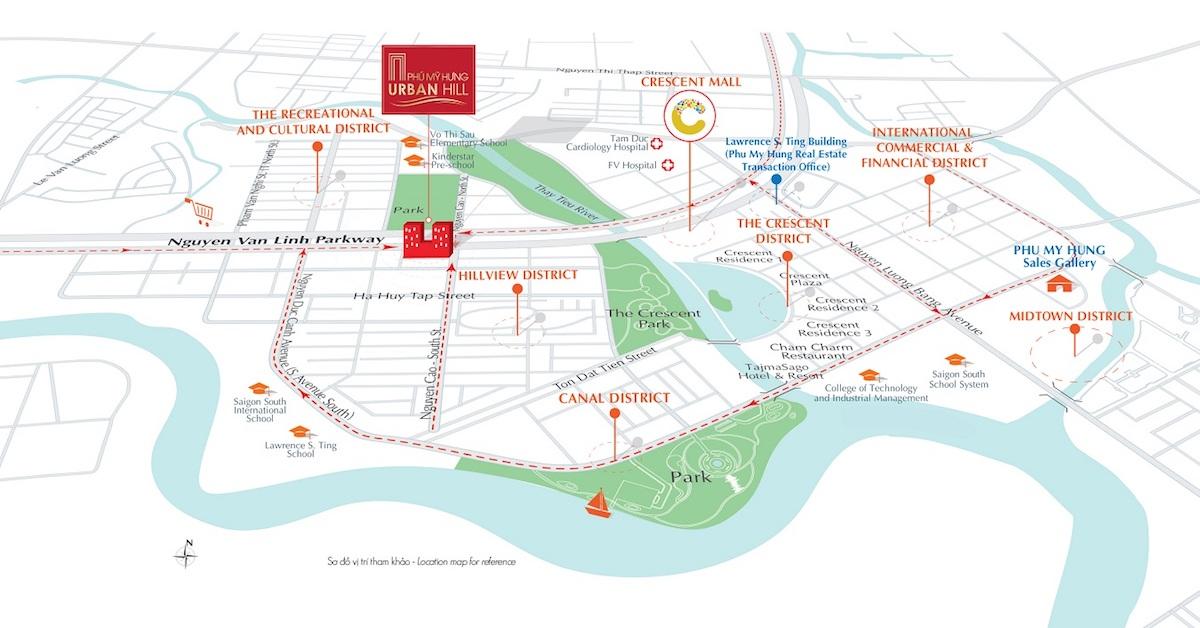 Sơ đồ vị trí dự án Urban Hill Phú Mỹ Hưng