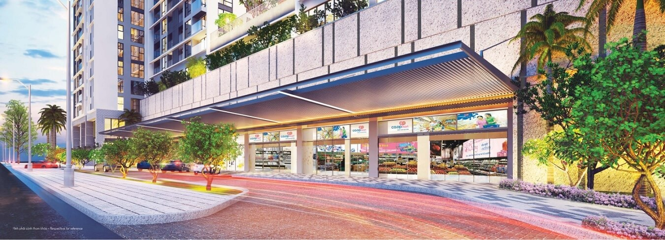 Siêu thị Coopmart Phú Mỹ Hưng nằm bưới tầng trệt của dự án Urban Hill