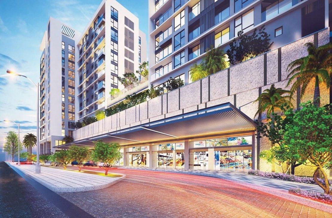 Mở bán chỉ 164 căn hộ cao cấp Urban Hill Phú Mỹ Hưng vị trí tại Co.op Mart Nguyễn Văn Linh Retail_entrance_5b05ee1b81d60